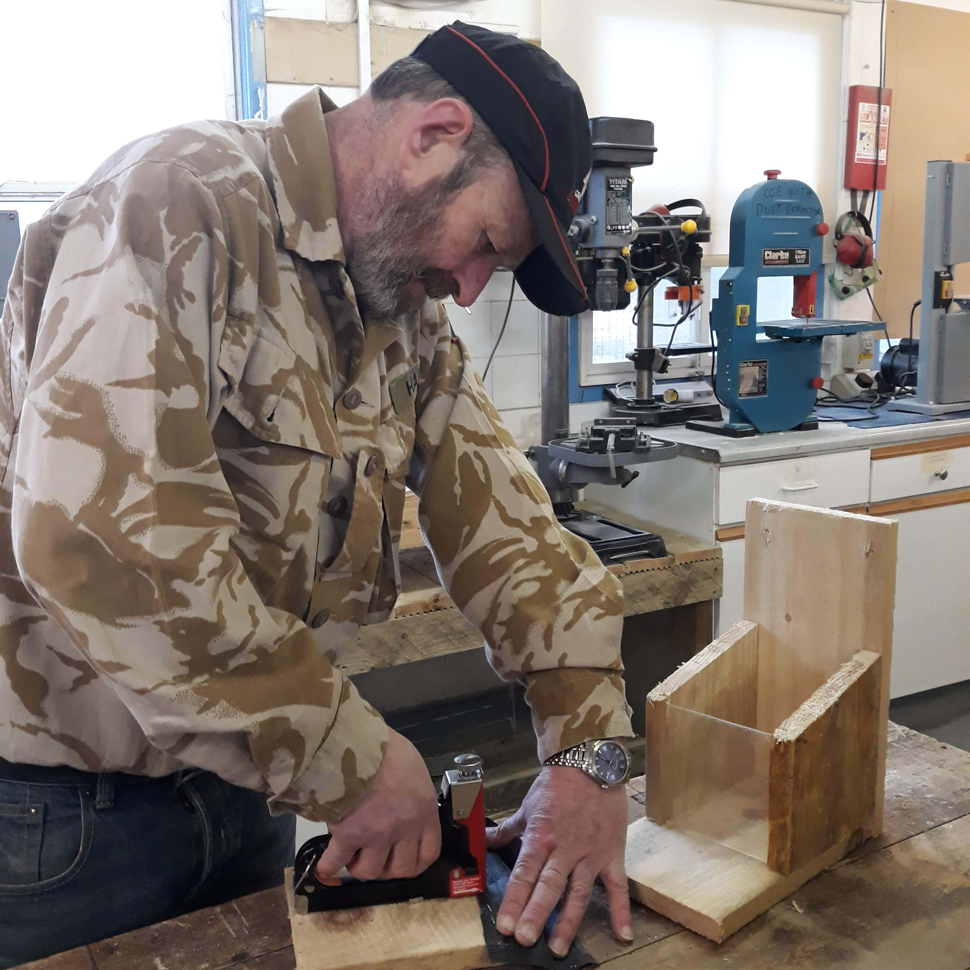 Gala Men's Shed take on the feeder box challenge!
