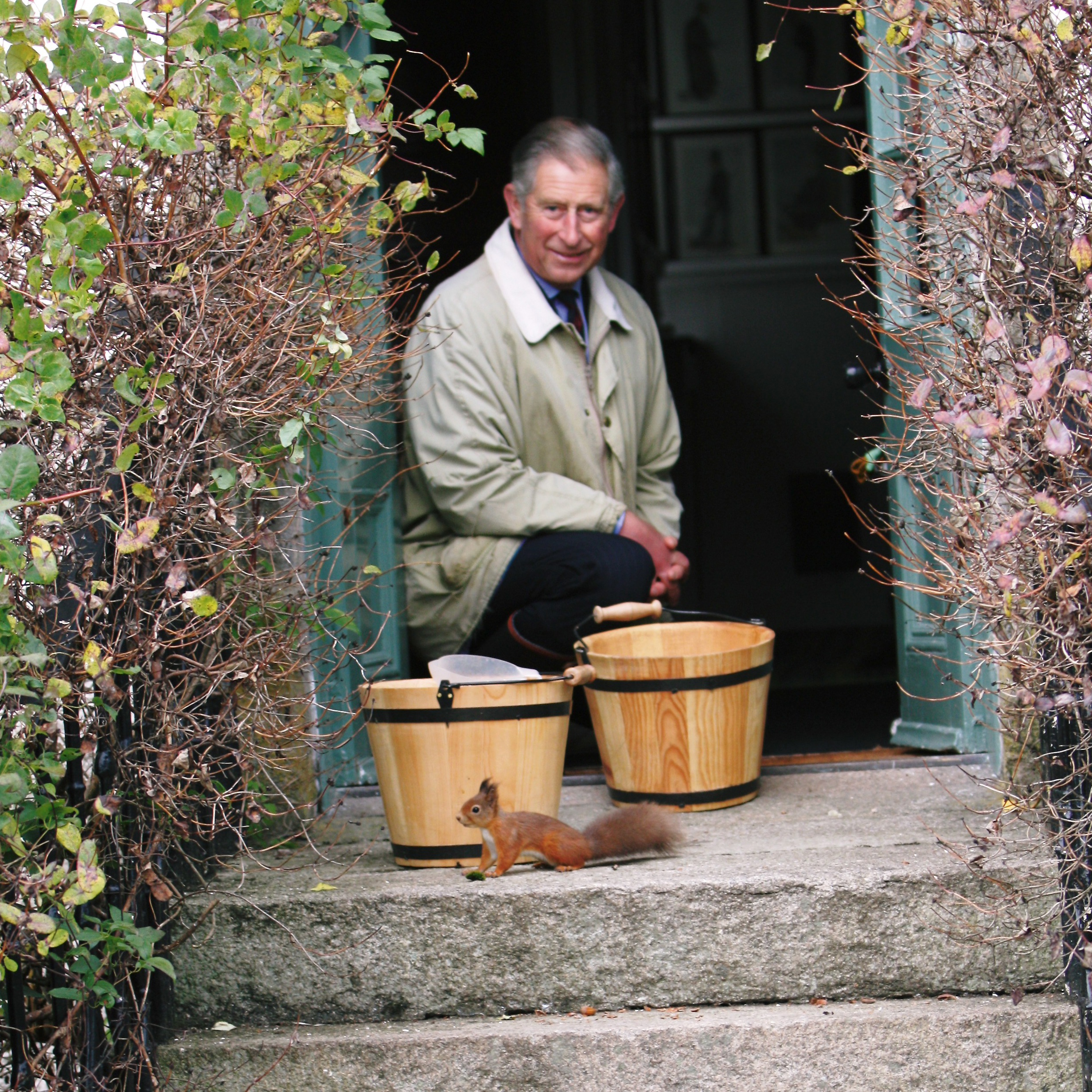 HRH The Prince of Wales gives special thanks to volunteers on Red Squirrel Appreciation Day